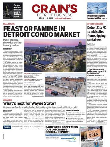 Crain's Detroit Business, April 1, 2019 issue by Crain's
