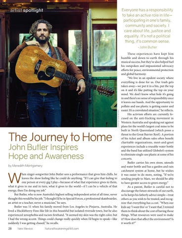 Page 28 of The Journey to Home:  John Butler Inspires Hope and Awareness