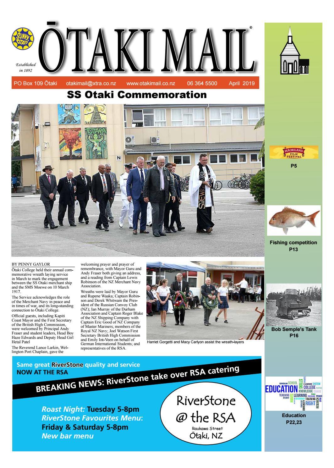 Otaki Mail April 2019 by Otaki Mail - issuu