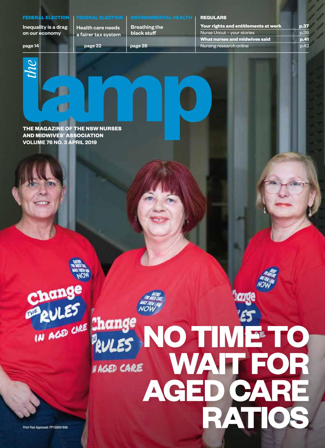 8734ce3bb Lamp April 2019 by NSW Nurses and Midwives' Association - issuu