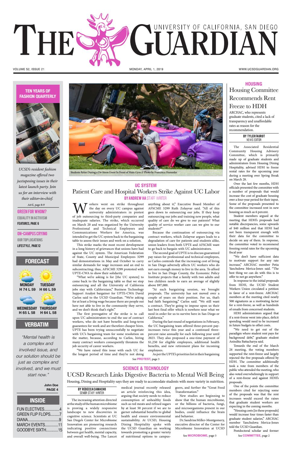 The UCSD Guardian 4/1/19 by UCSD Guardian - issuu
