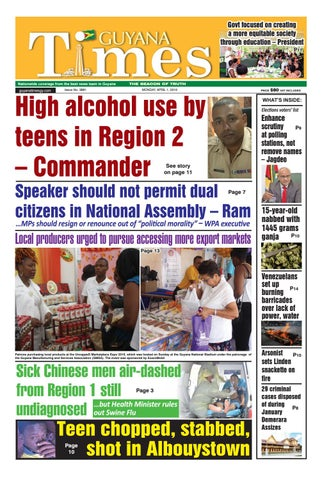 Guyana Times - Monday, April 1, 2019 by Gytimes - issuu