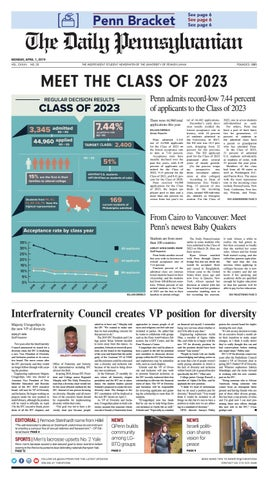 April 1, 2019 by The Daily Pennsylvanian - issuu