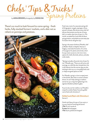 Page 10 of Chefs' Tips & Tricks! Spring Proteins