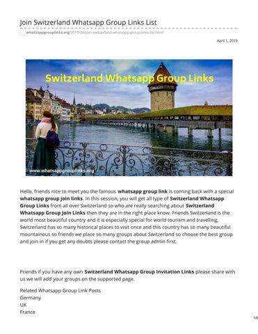 Join Switzerland Whatsapp Group Links List by whatsapp group