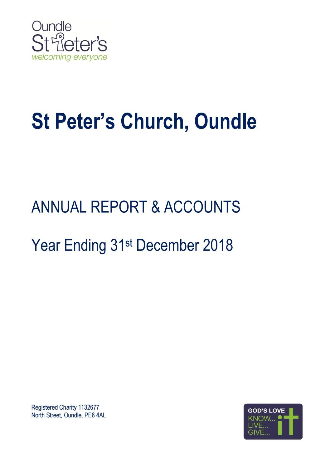 Annual Report and Accounts for Year Ending 31st December 2018 by St