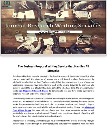 The Business Proposal Writing Service That Handles All