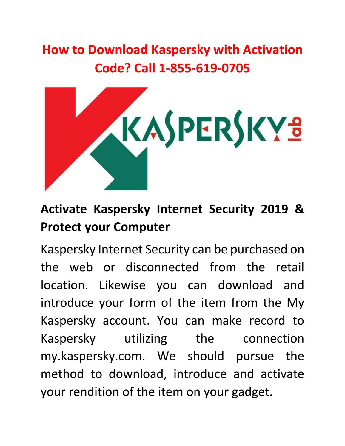 How to Download Kaspersky with Activation Code? Call 1-855
