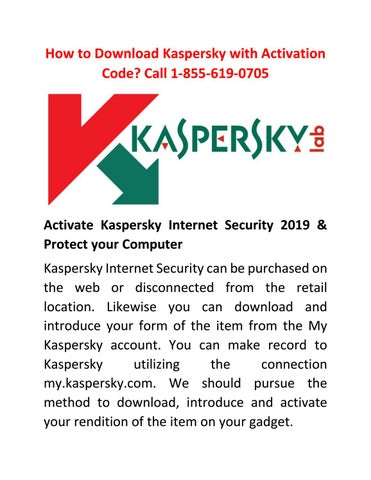 How to Download Kaspersky with Activation Code? Call 1-855-619-0705