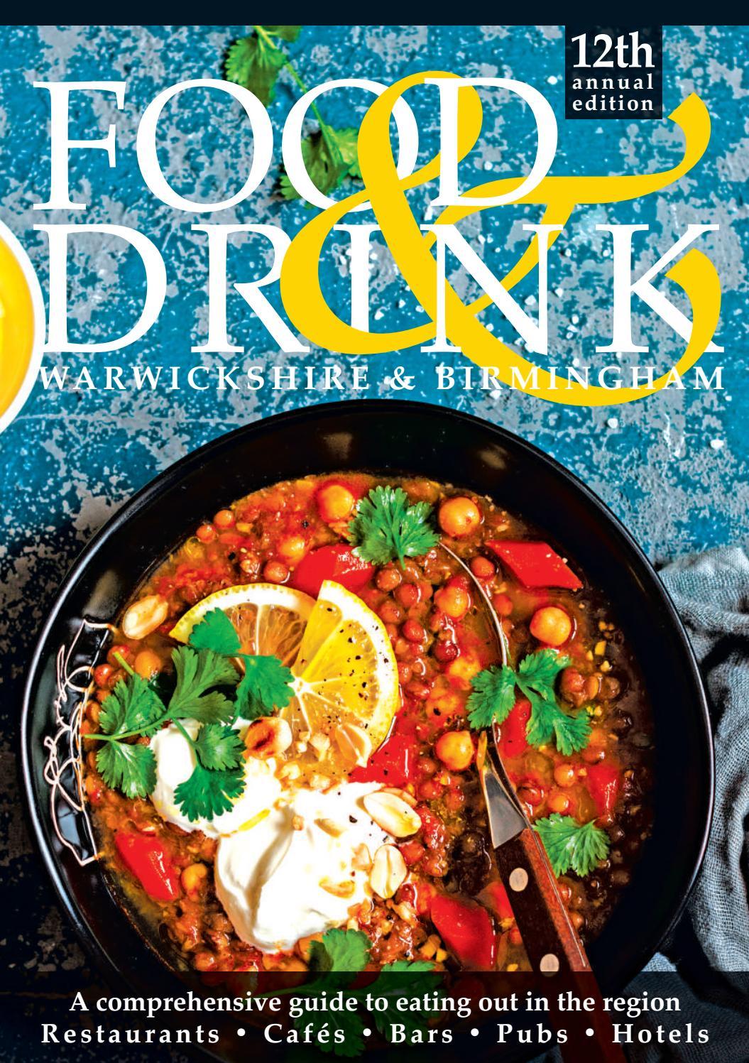 Warwickshire Birmingham Food Drink Guide 2019 By Food