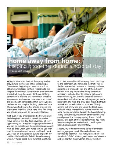 Page 38 of Home Away from Home: Tips for Keeping it Together During a Hospital Stay