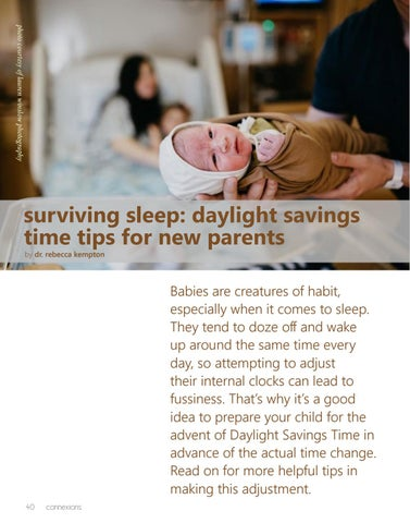 Page 40 of Surviving Sleep: Daylight Savings Time Tips for New Parents