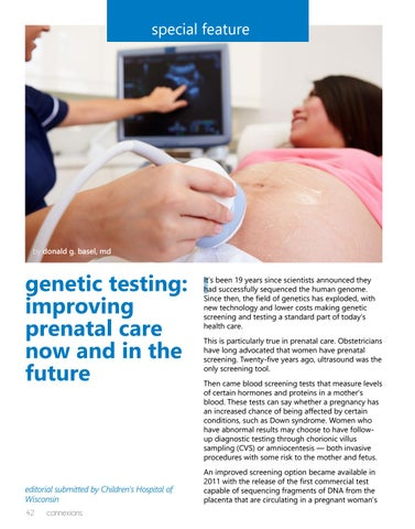 Page 42 of Genetic Testing: Improving Prenatal Care Now and in the Future