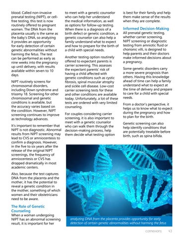 Page 43 of Genetic Testing: Improving Prenatal Care Now and in the Future