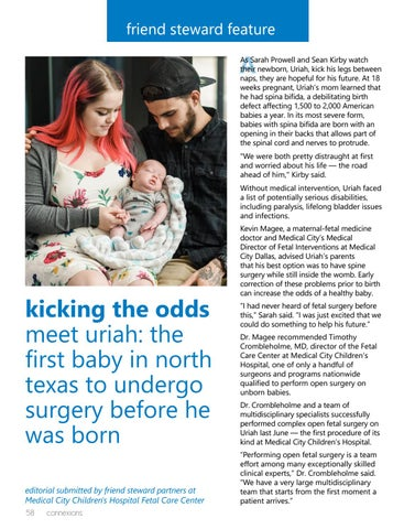 Page 58 of Kicking the Odds: The First Baby in North Texas to Undergo Surgery Before He Was Born