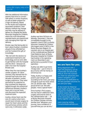 Page 67 of Rocky Mountain Hospital for Children: Expert Care for Complex Congenital Diagnoses