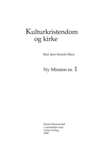 c8dd28a7a05 Ny Mission 1 by Danish Mission Council - issuu
