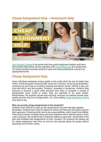 Assignment Help Services in All Subjects