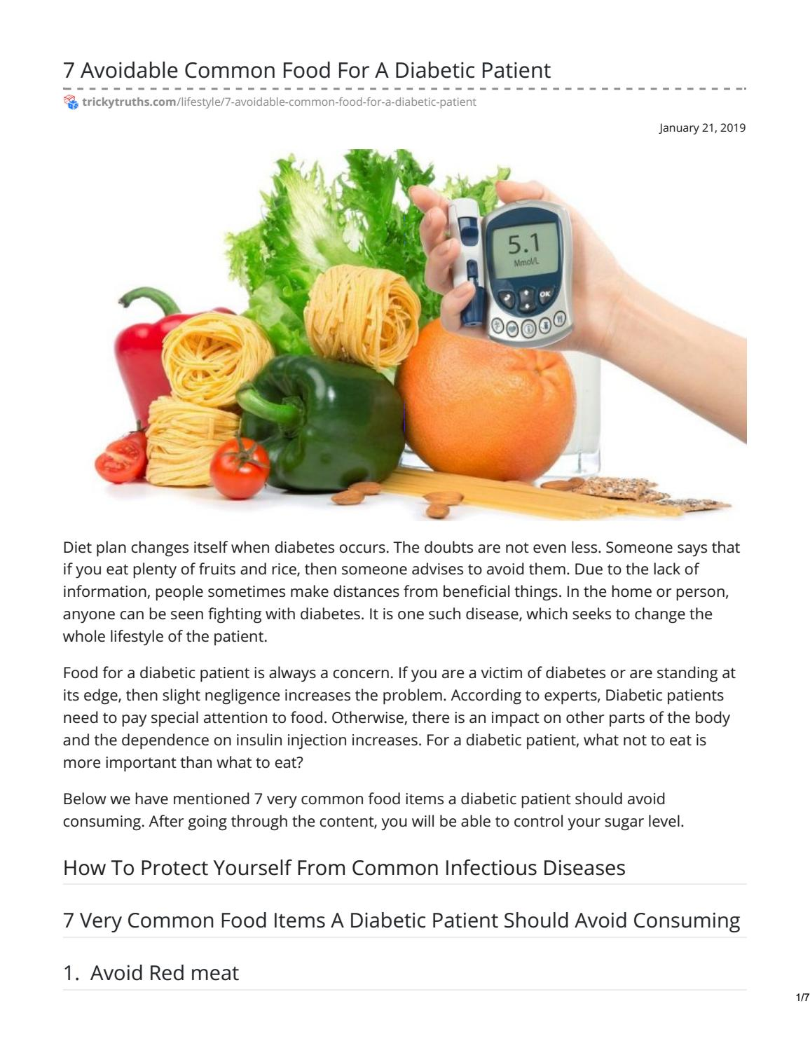 What Fruits Diabetics Should Avoid By Trickytruths Issuu
