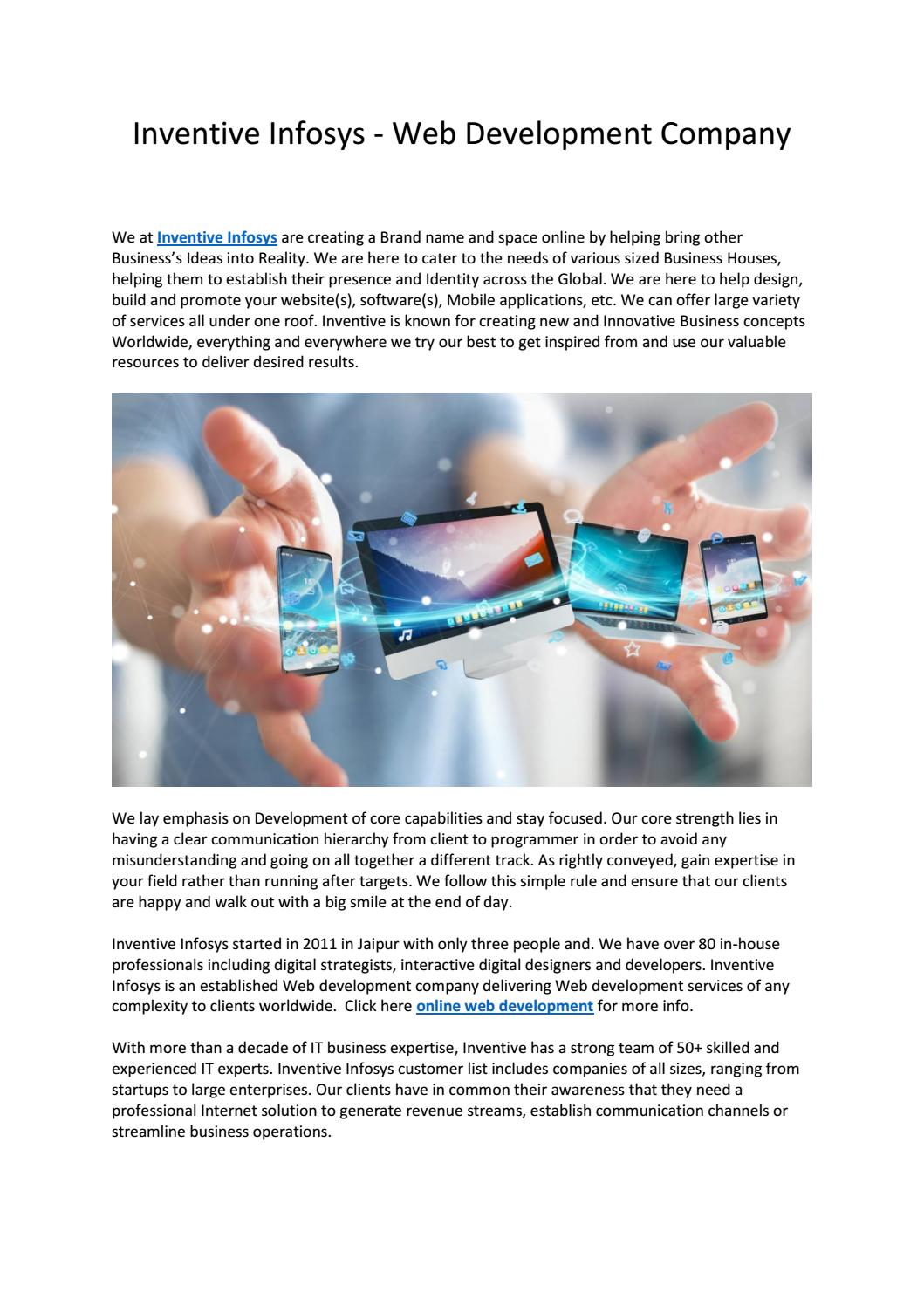 Inventive Infosys - Web Development Company by Inventive Infosys - issuu