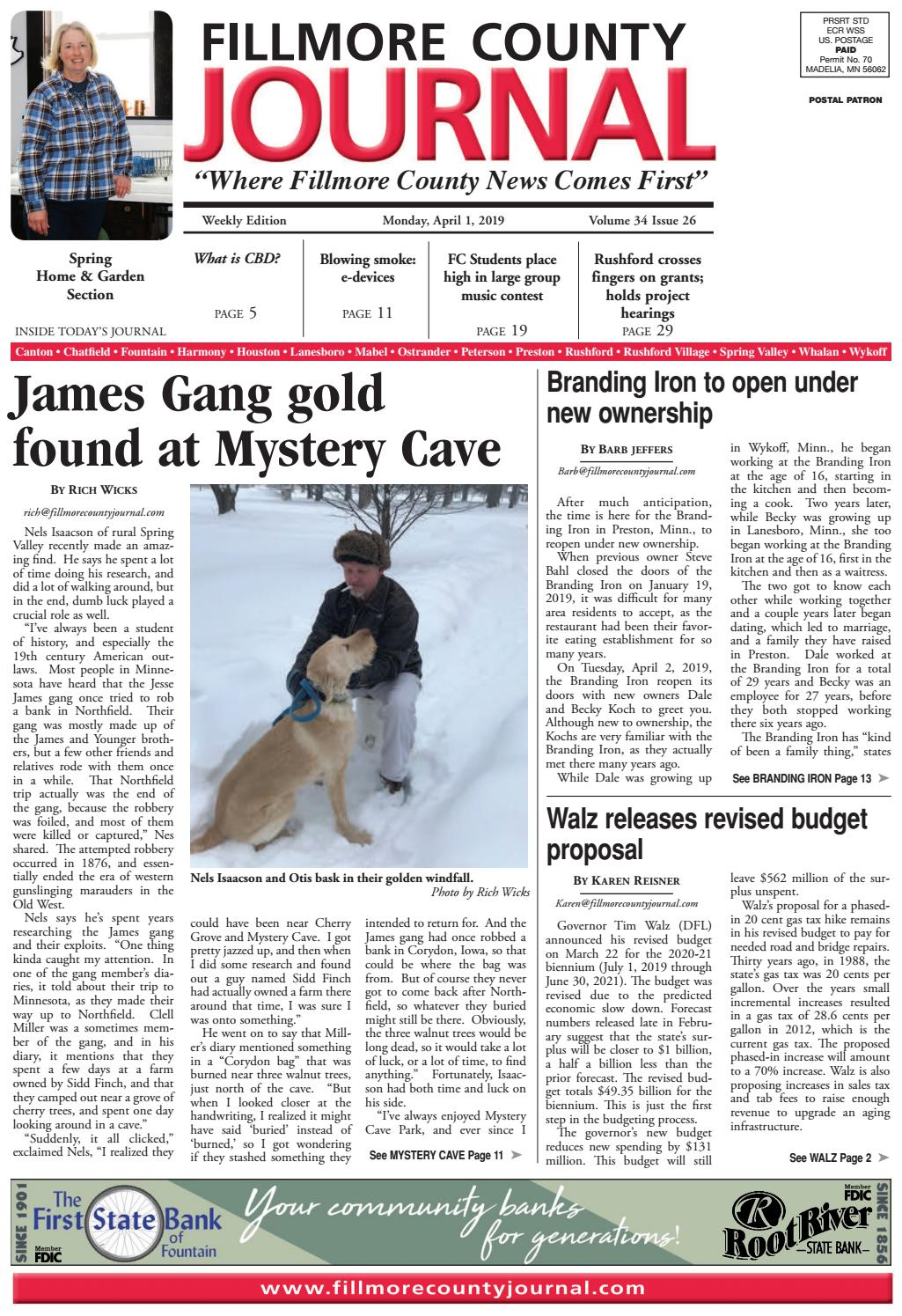 Fillmore County Journal 412019 By Jason Sethre Issuu
