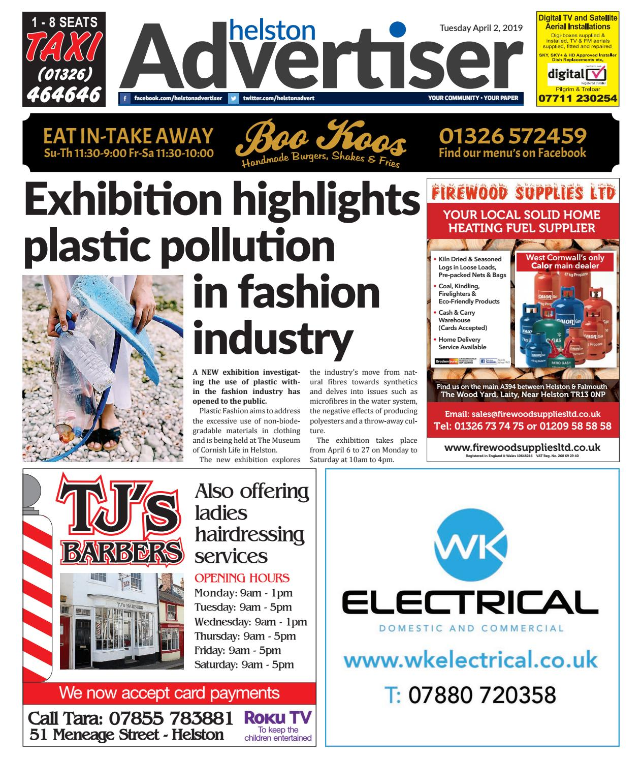 Helston Advertiser - April 2nd 2019 by Helston Advertiser