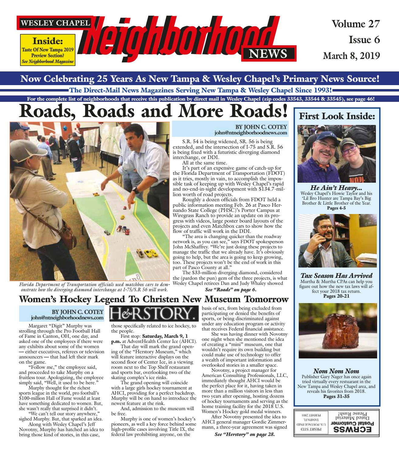 Wesley Chapel Neighborhood News, Volume 27  Issue 6, March 8, 2019