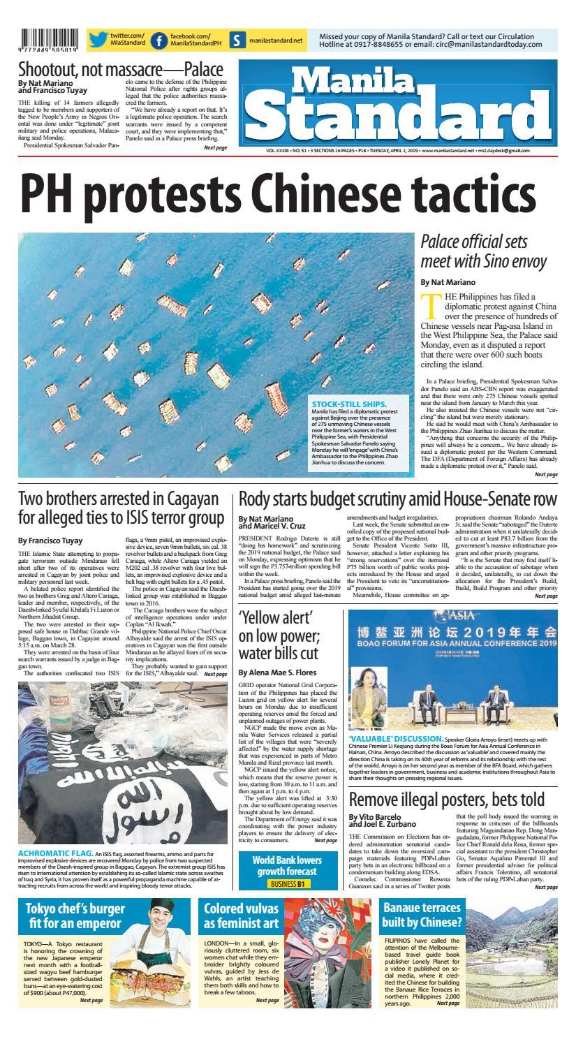 Manila Standard - 2019 April 2 - Tuesday by Manila Standard