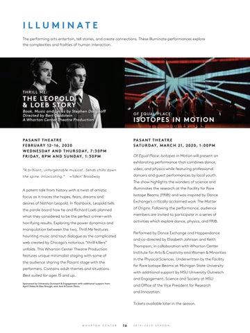 Page 18 of Illuminate Series at Wharton Center
