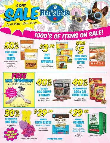 Ren S Pets April Retail Flyer 2019 By Ren S Pets Depot Issuu