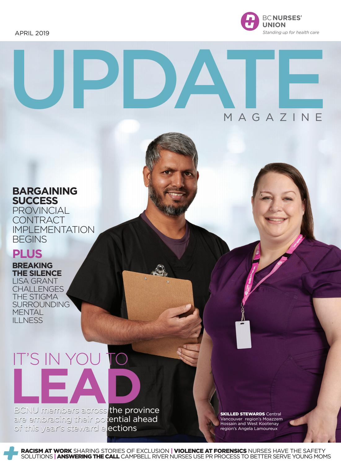Nine Out Of Ten Nurses Agree >> Bcnu Update Magazine April 2019 By Bc Nurses Union Issuu