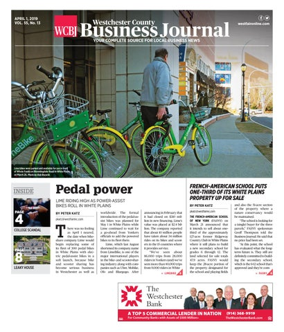 09d1a4c21 Westchester County Business Journal 040119 by Wag Magazine - issuu