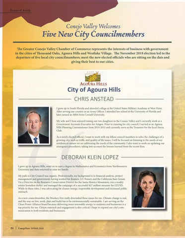 Page 22 of Conejo Valley Welcomes Five New City Councilmembers for