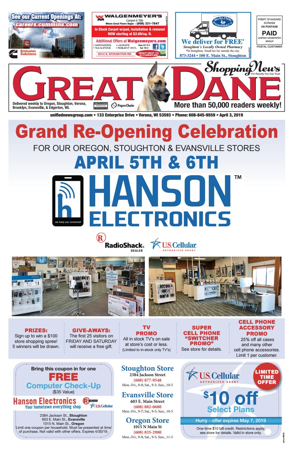 4/3/19 Great Dane Shopping News