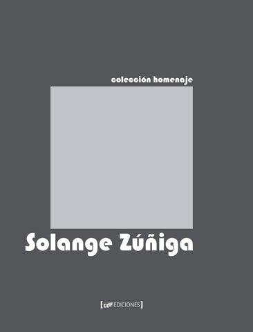 Colección Homenaje Solange Zúñiga By Centro De Fotografía