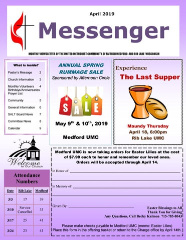 The Messenger - April 2019 by United Methodist Church - Medford and