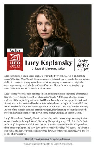 1819-Lucy Kaplansky program by Lied Center of Kansas - issuu