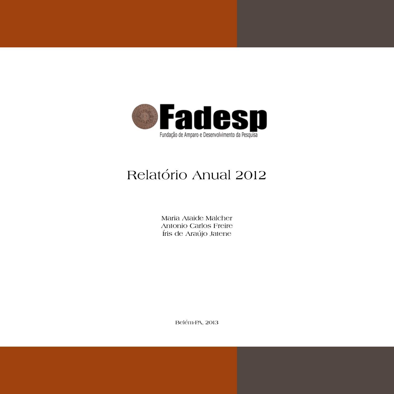 Relatório Fadesp 2012 By Nobugtech Issuu