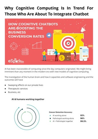 5 Cognitive Advantages Of People With >> Advantages Of Cognitive Chatbots Integration Into Your Business