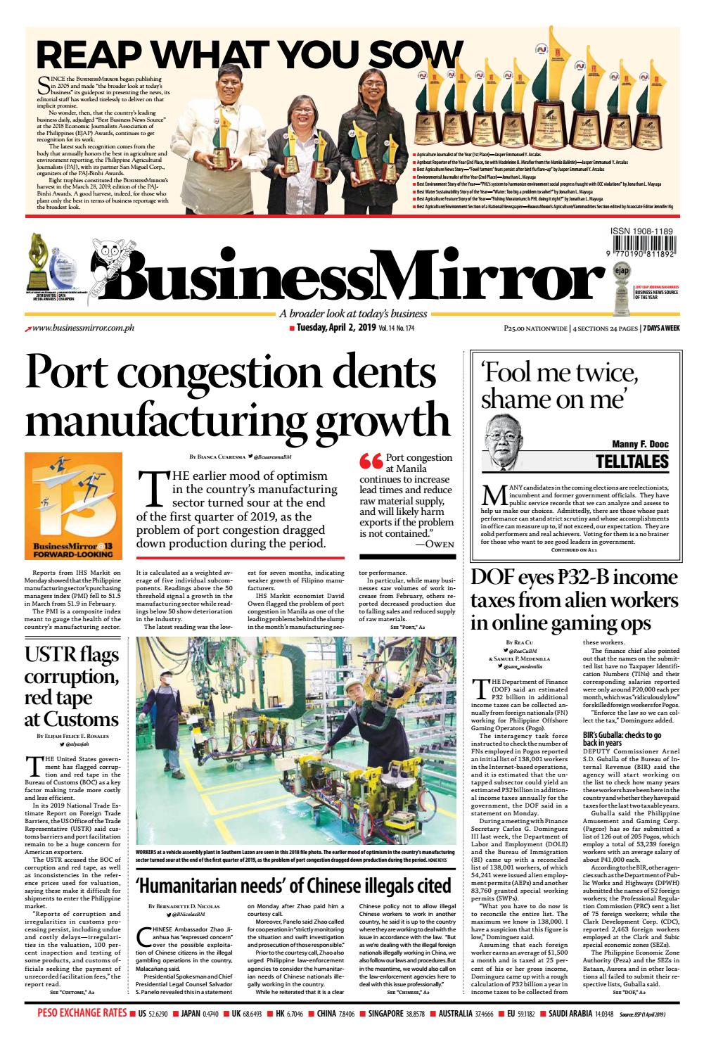 BusinessMirror April 02, 2019 by BusinessMirror - issuu
