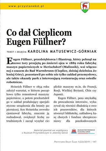 Page 147 of Mieszkanie i miejsce pracy: Co dał Cieplicom Eugen Füllner?