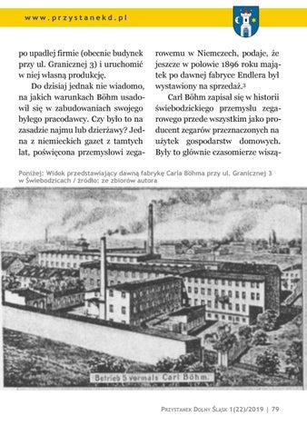 Page 79 of Ludzie i miejsca: Świebodzickie fabryki zegarów (5): C. Böhm i Kappel & Co