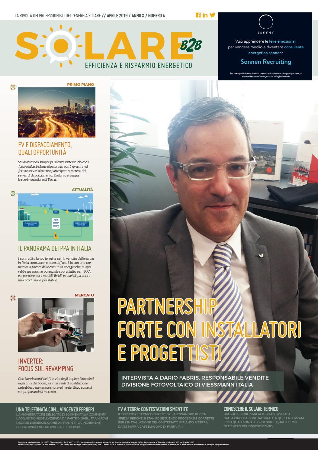 Vendere Energia Elettrica Da Fotovoltaico solareb2b - aprile 2019 by by editoriale farlastrada - issuu