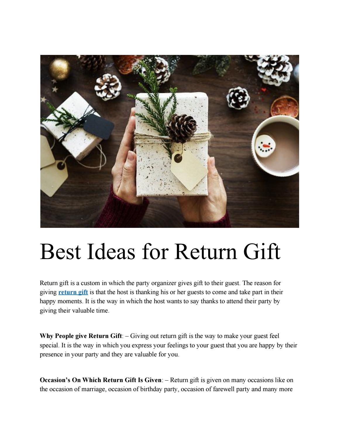 Best Ideas For Return Gift By Handicraftsinindia Issuu