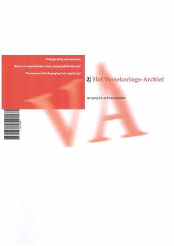 f8a5a7a449d Het Verzekerigs-Archief, Jaargang 85, 2e kwartaal 2008 by B+B ...