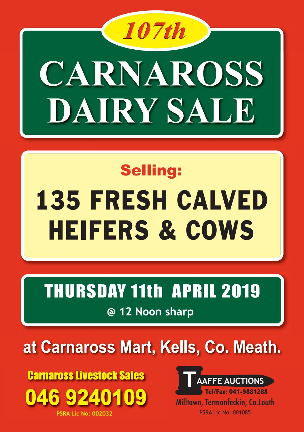 CARNAROSS DAIRY SALE 107 by TAAFFE AUCTIONS - issuu