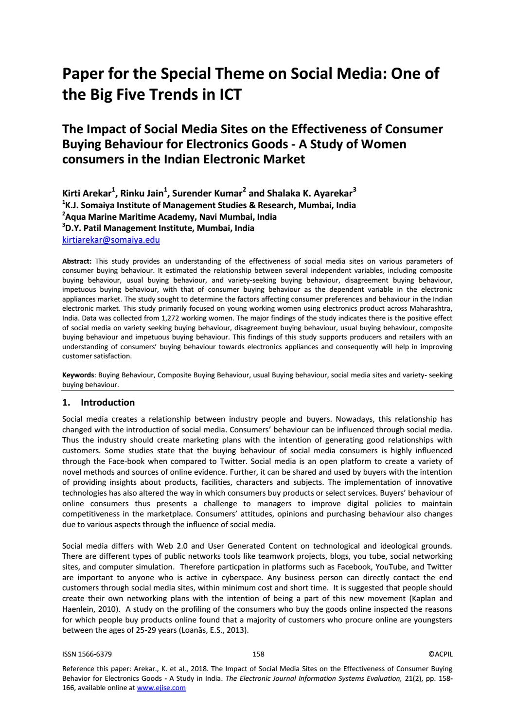 Research paper on customer buying behaviour
