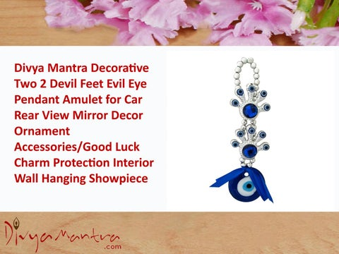 Two 2 Devil Feet Evil Eye Pendant Amulet for Car Rear View Mirror