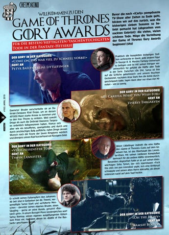 Page 36 of Game Of Thrones Gory Awards