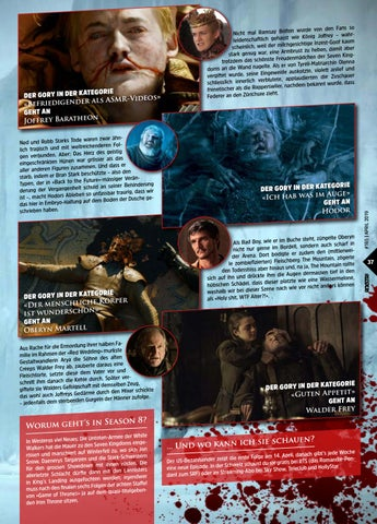 Page 37 of Game Of Thrones Gory Awards